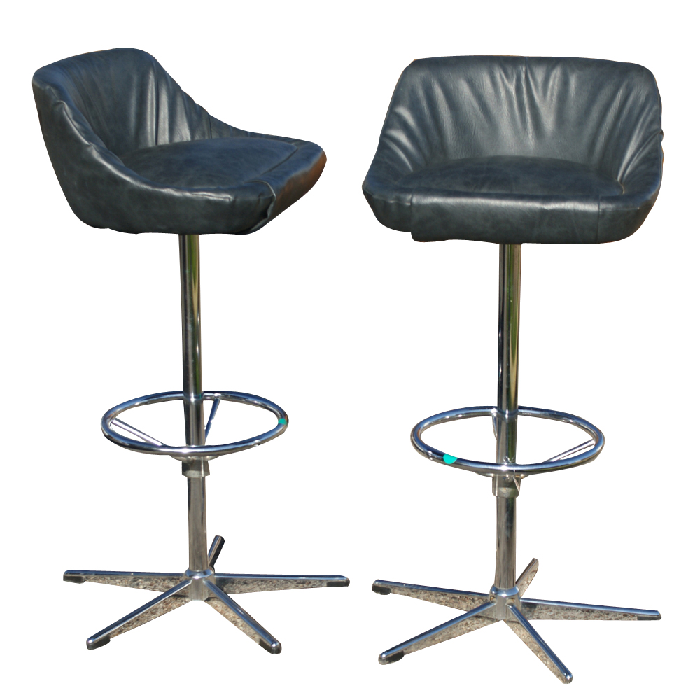 Metro Retro Furniture 2 Vintage Bar Counter Stools
