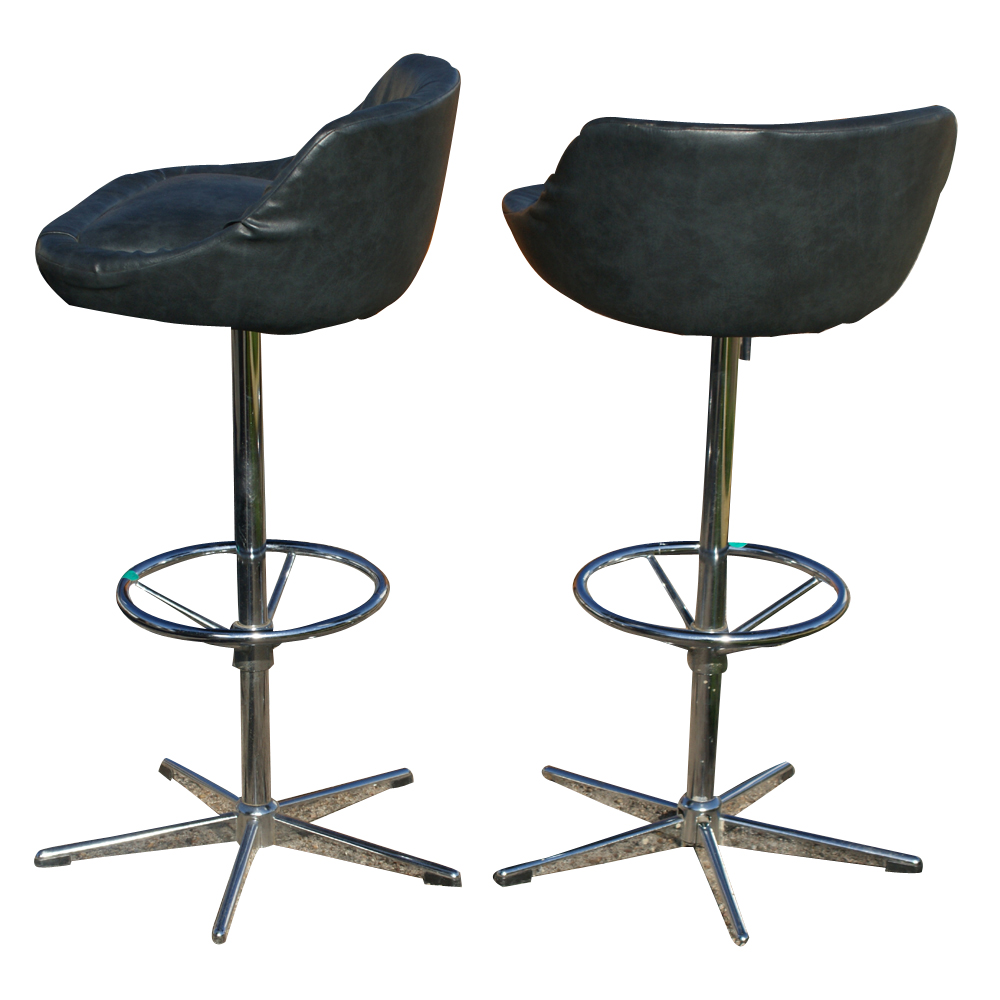 Vintage bar counter stools arne jacobsen style base