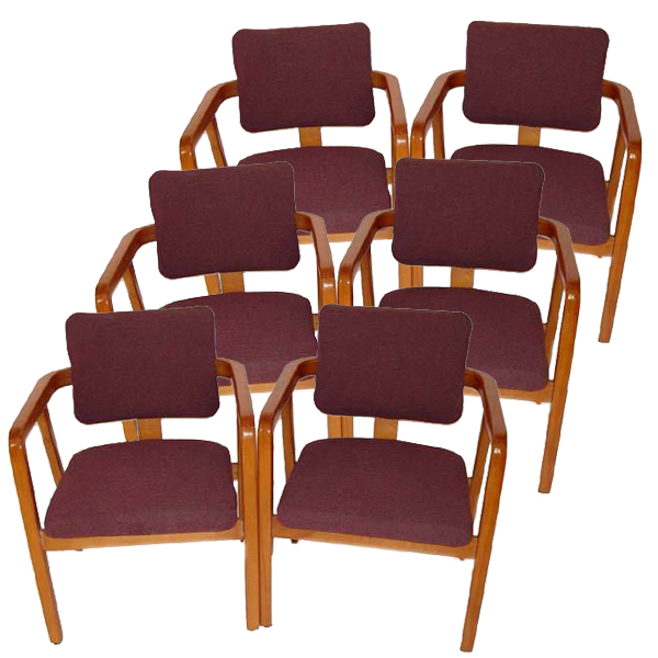 6 George Nelson Herman Miller Maple Lounge Chairs Ebay