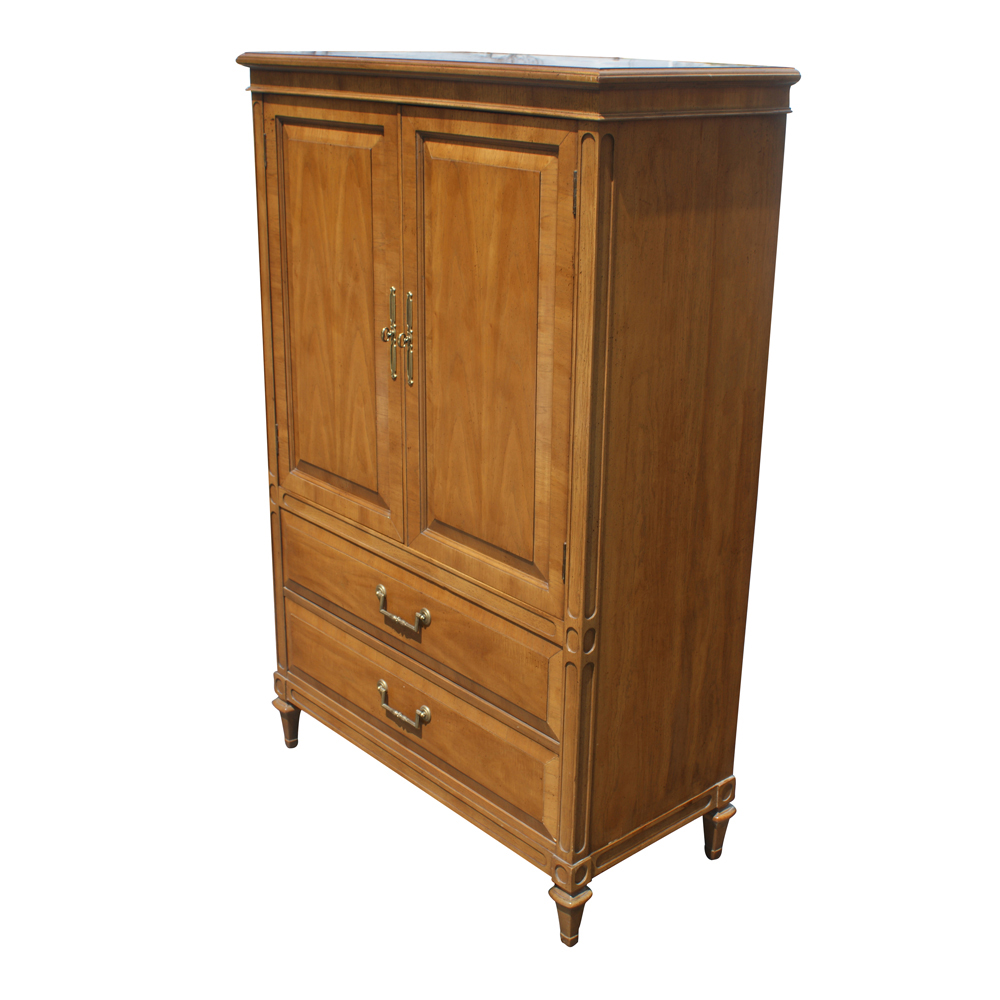vintage wood armoire by century ebay. Black Bedroom Furniture Sets. Home Design Ideas