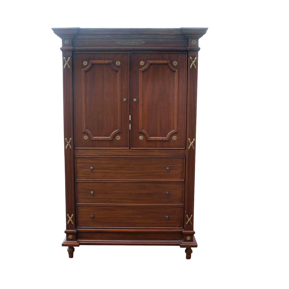 custom made traditional mahogany armoire ebay. Black Bedroom Furniture Sets. Home Design Ideas