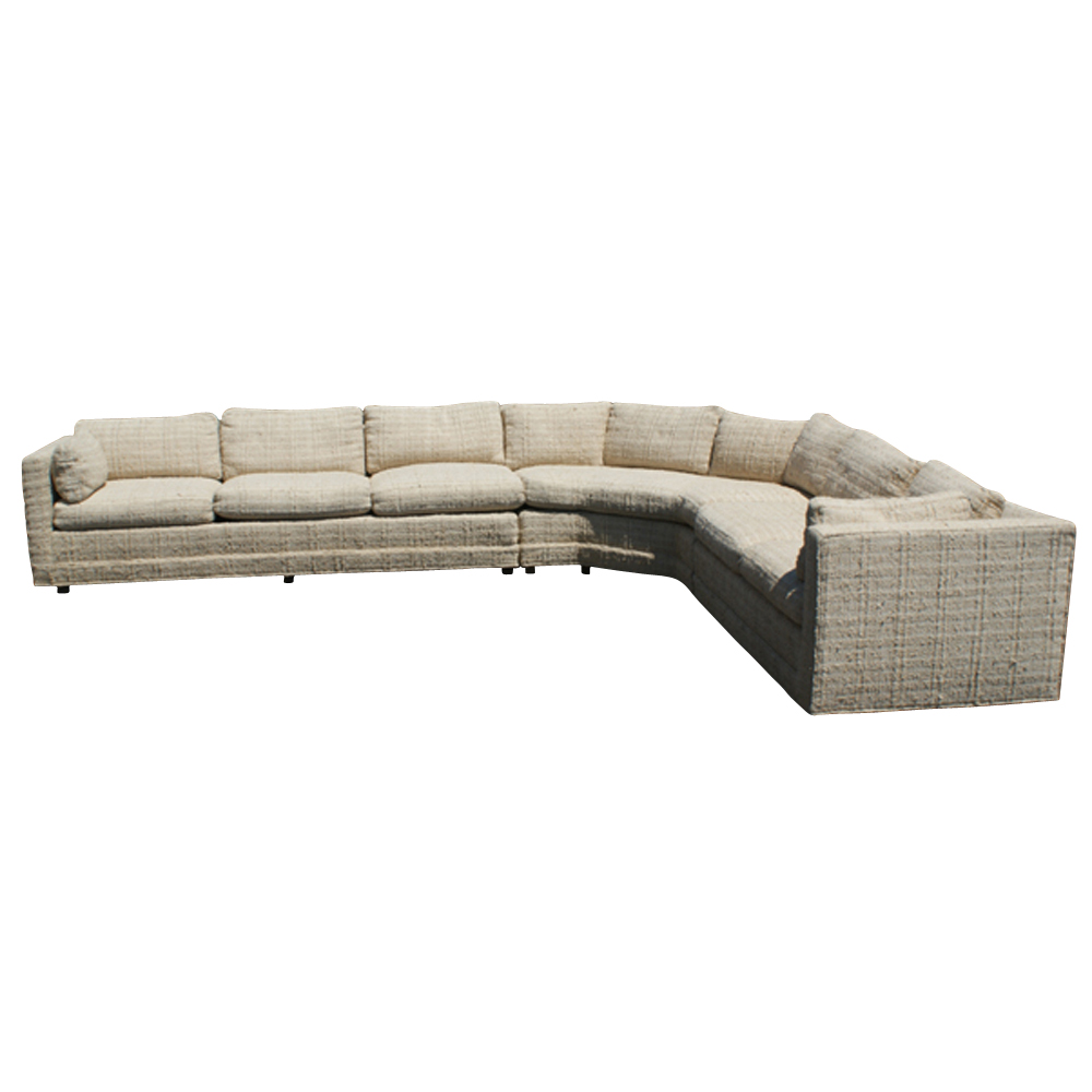 Vintage Baker Corner Sectional Sofa Couch Down Cushions Ebay