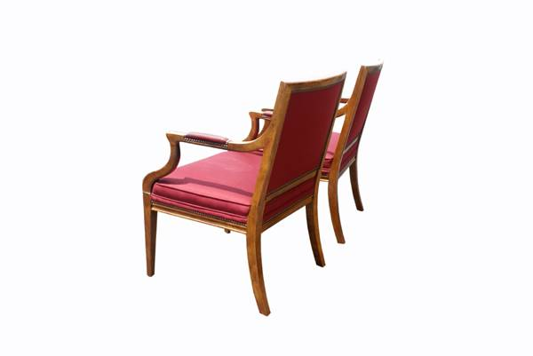 baker furniture pair traditional vintage baker dining side chair