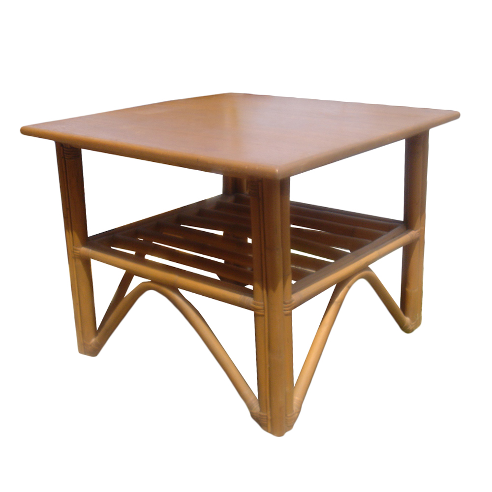 Midcentury retro style modern architectural vintage for Bamboo side table