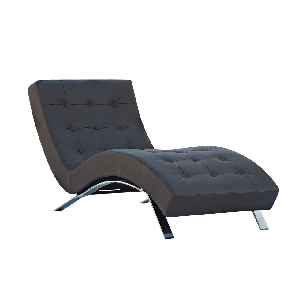 Contemporary barcelona style chaise lounge ebay for Chaise longue or chaise lounge