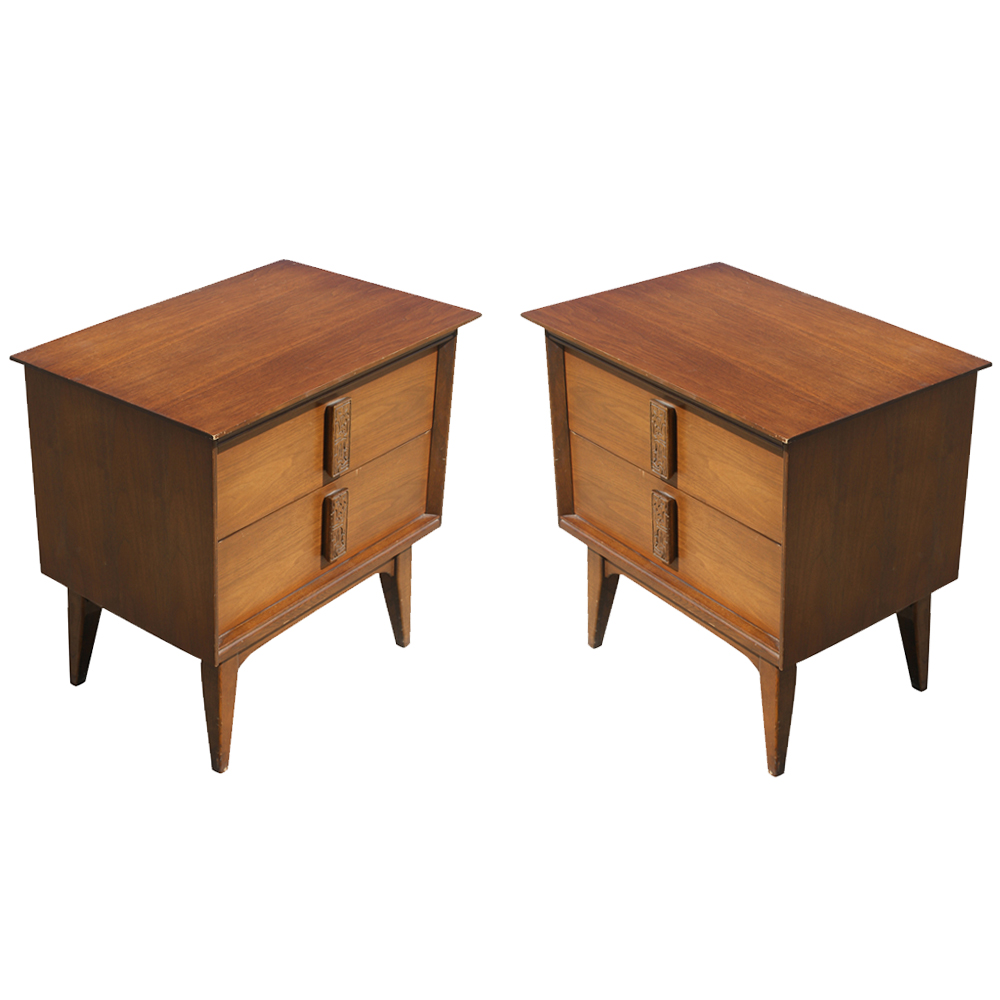 (2) Vintage Mayan Design Night Stands Side Tables PRICE