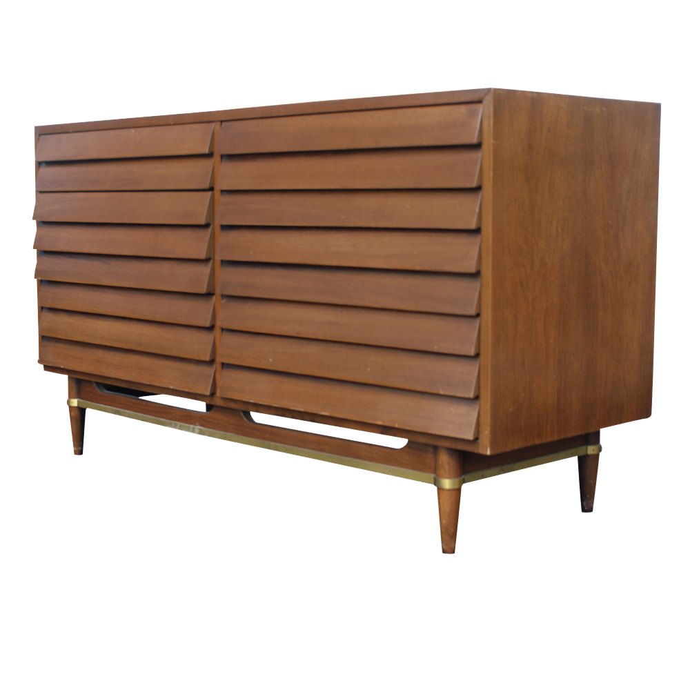 Midcentury retro style modern architectural vintage for American martinsville bedroom furniture