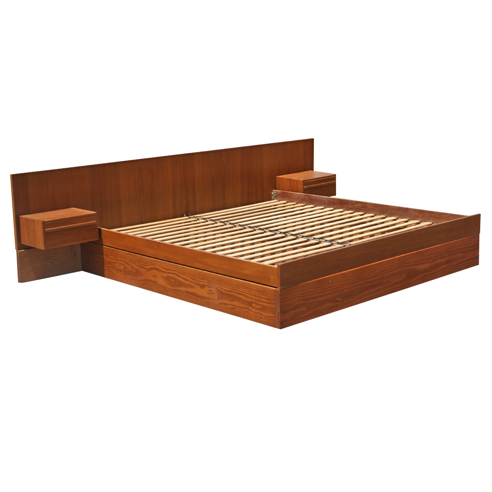 platform bed with nightstands attached platform bed with