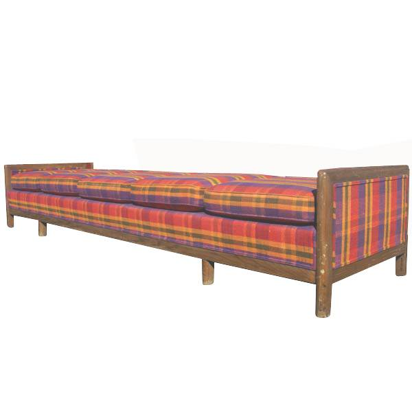 Details about 10ft Mid Century Modern Wood Frame Bench