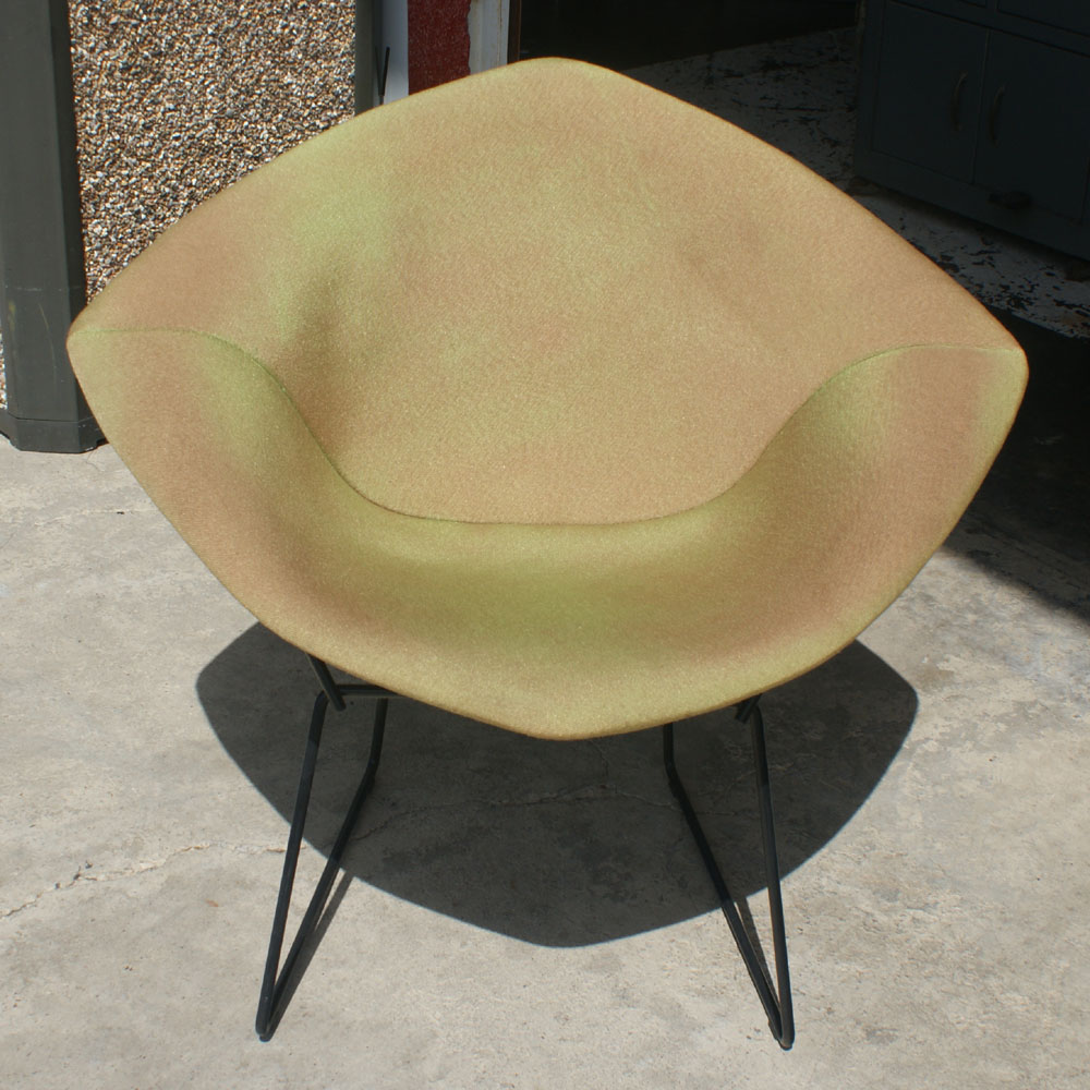 original knoll bertoia diamond lounge chair and cushion ebay. Black Bedroom Furniture Sets. Home Design Ideas