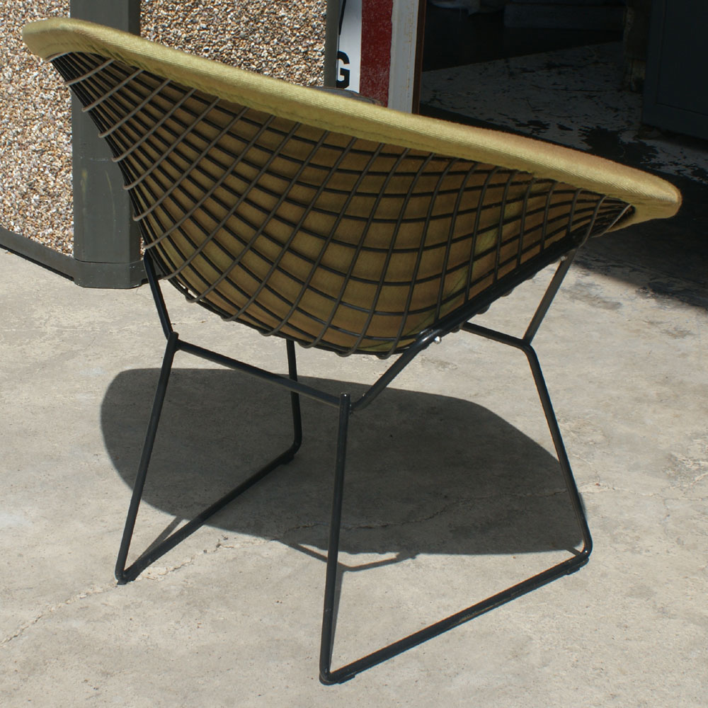 Details about original knoll bertoia diamond lounge chair and cushion