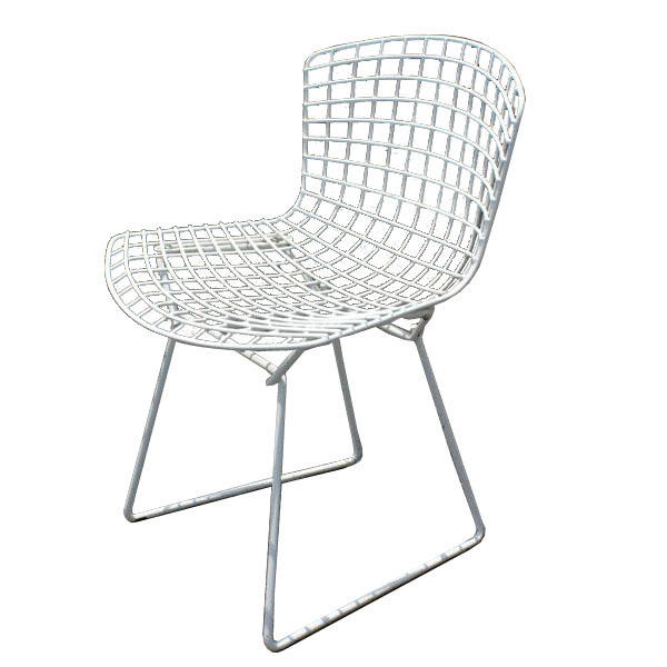 Metro retro furniture 1 vintage original knoll bertoia mesh side chair - Knoll life chair parts ...