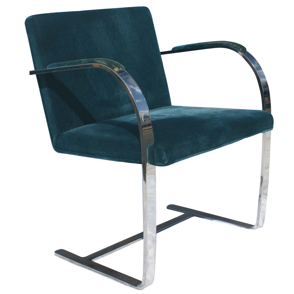 knoll mies van der rohe stainless flat brno chairs