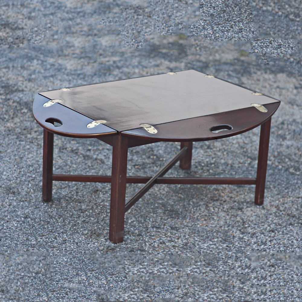 butler 39 s folding tray drop side coffee table