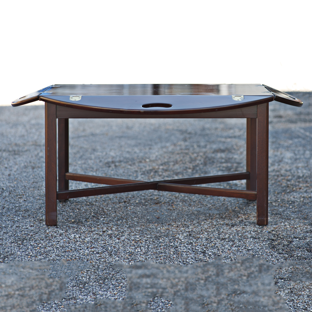 Butler 39 s folding tray drop side coffee table for Coffee tables ebay australia