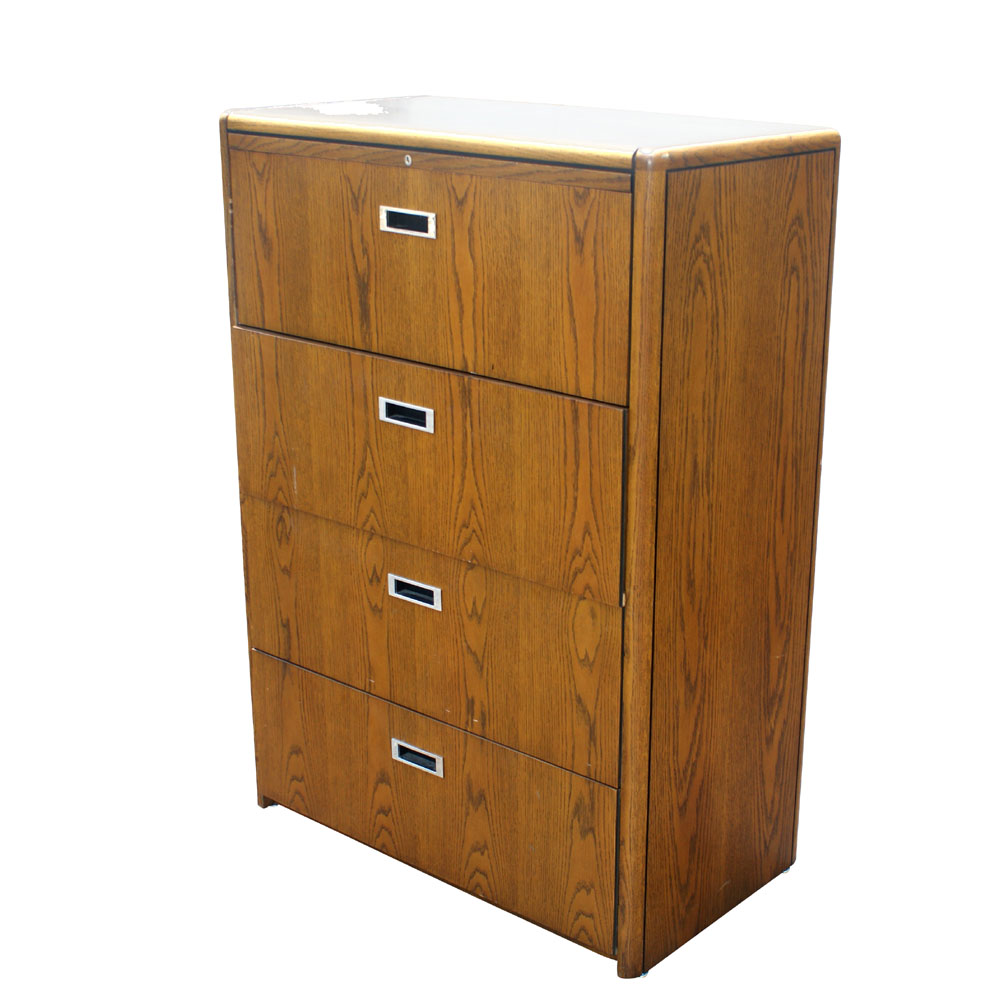 Amazing  Drawer Vertical Wood File Storage Cabinet In Distressed Wheat