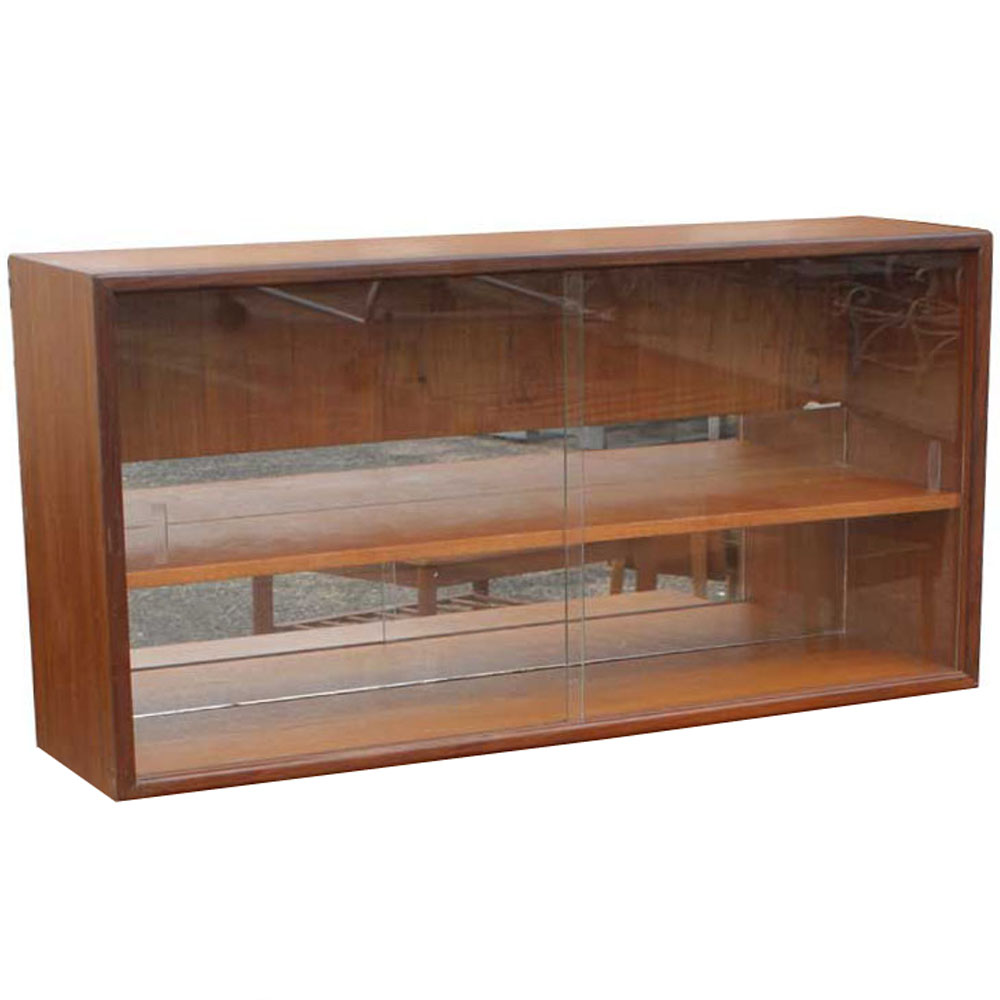 Antique oak library bookcase glass doors harp gallery antique - Glass Library Cabinet Images