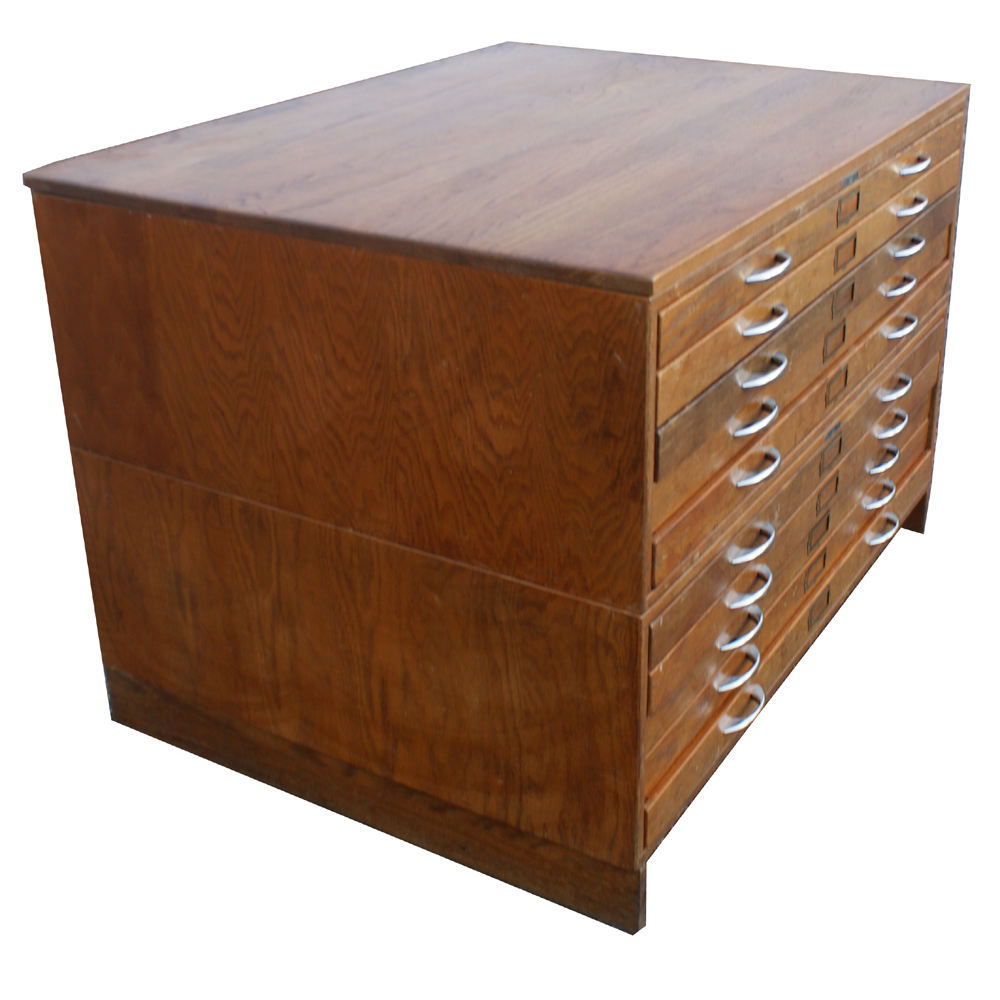 Vintage Mayline Wood 10 Drawer File Cabinet Ebay