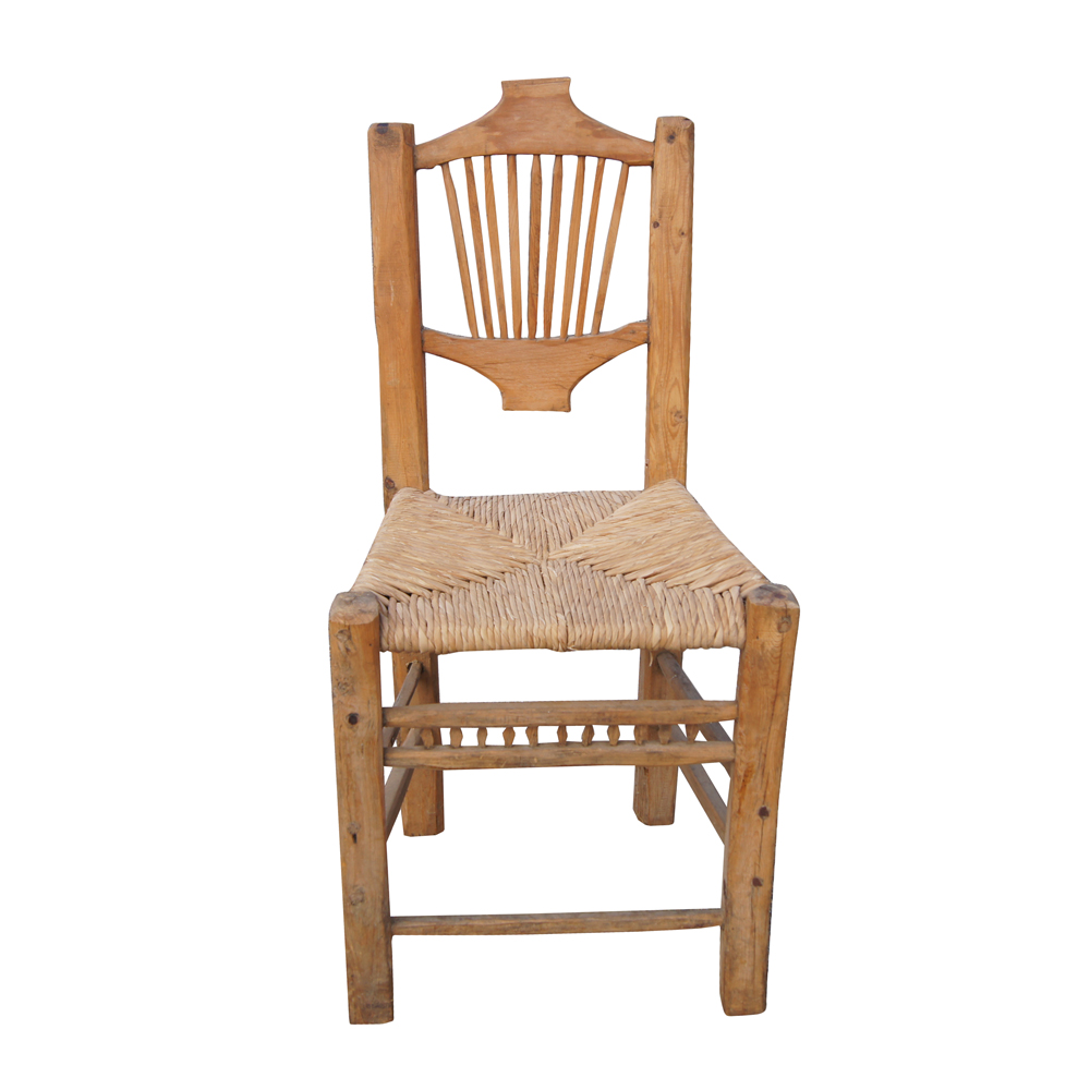 Western Hand Carved Wood And Cane Dining Chair Ebay