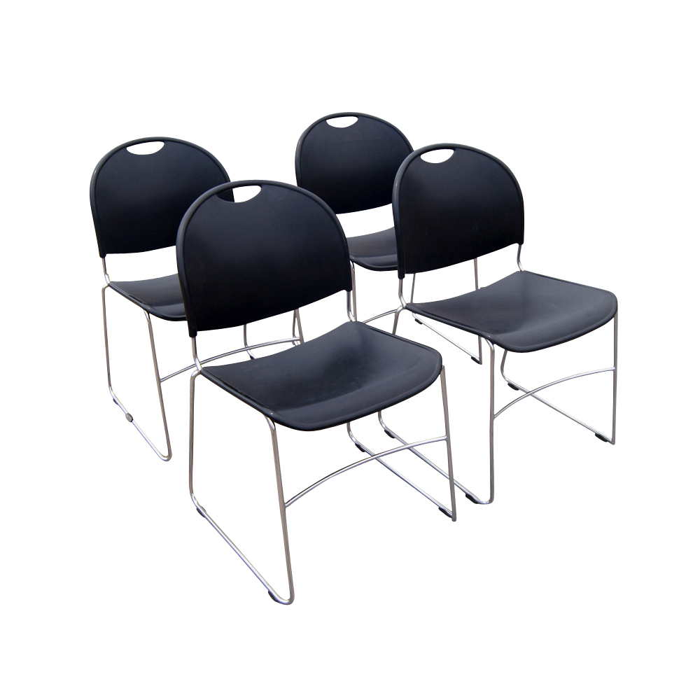 4 Haworth forto System 12 Stacking Chairs