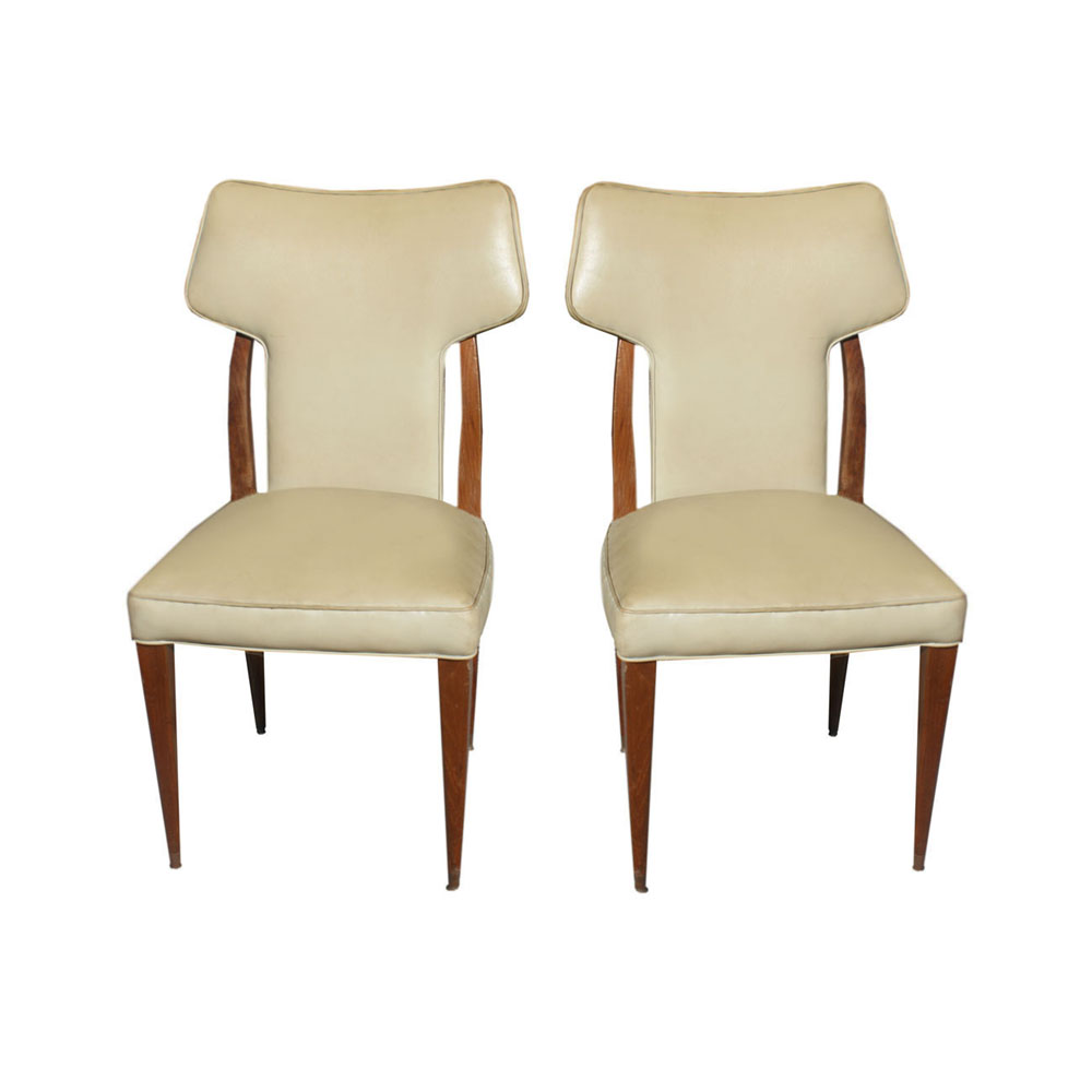 2 Vintage Conover High Back Side Chairs EBay