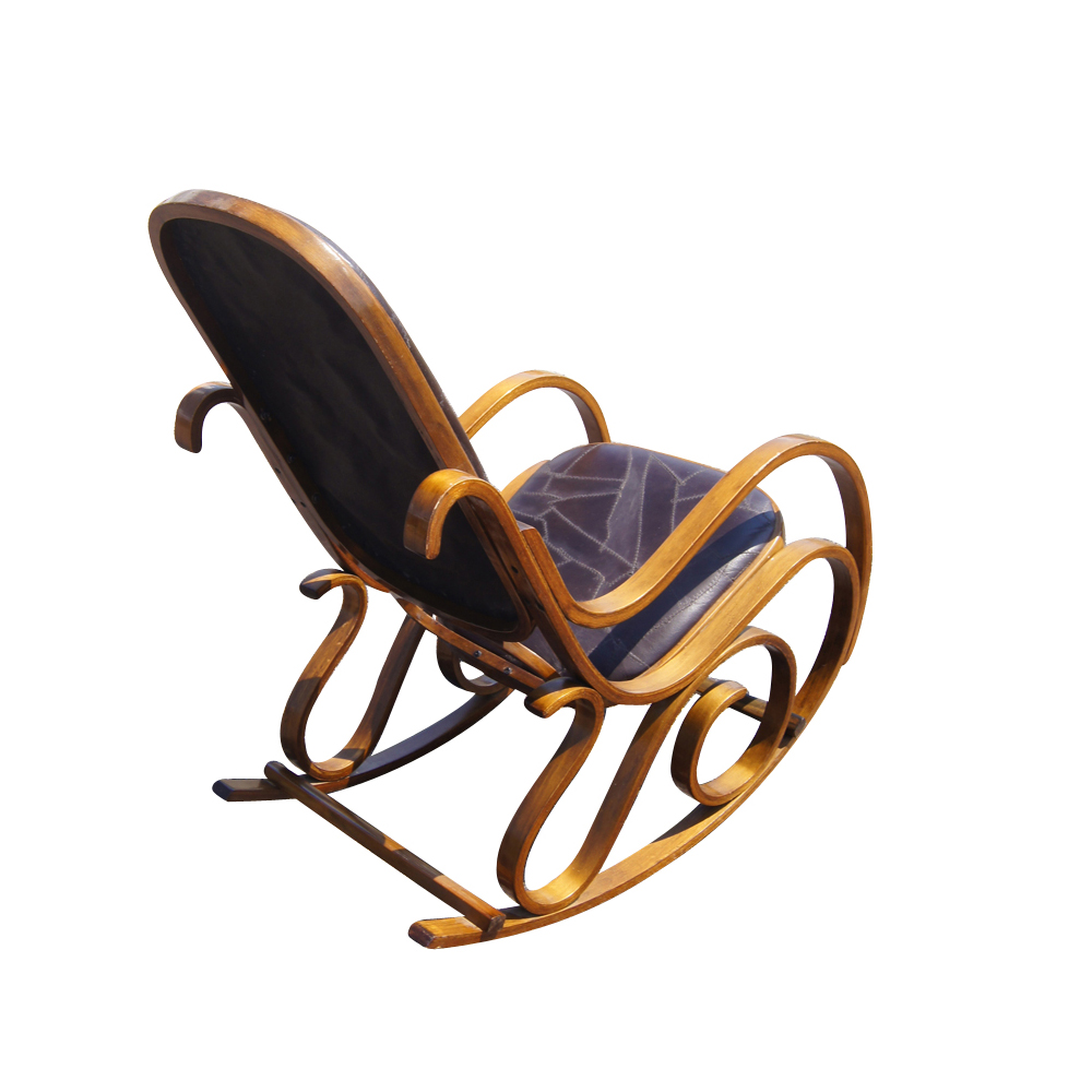 Astonishing 082 Wrought Iron And Brown Leather Rocking Chair Lot 82 Pdpeps Interior Chair Design Pdpepsorg
