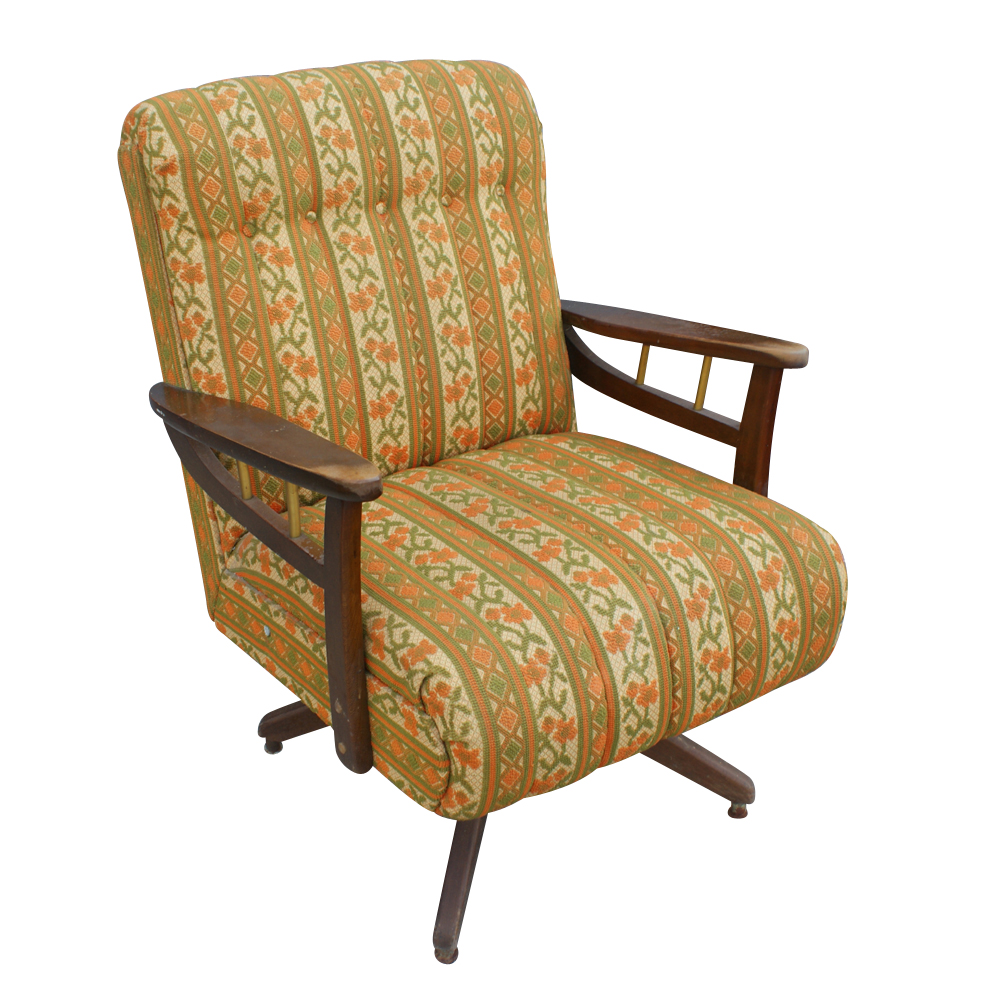 mid century modern rocking easy lounge arm chair. Black Bedroom Furniture Sets. Home Design Ideas