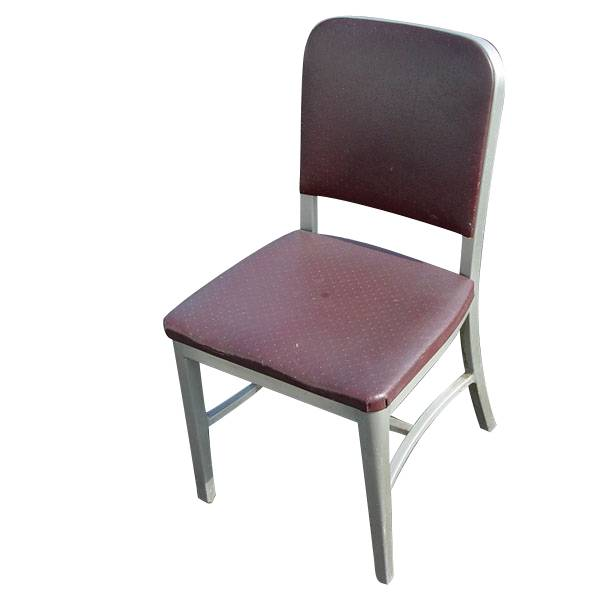 3 General Fireproofing Vintage Aluminum Side Chairs