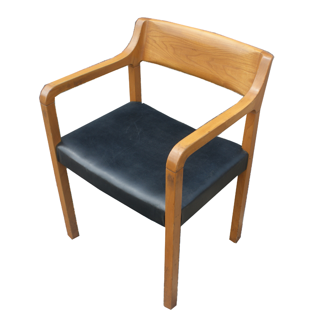 Mid century modern krug wood arm chairs ebay for Contemporary armchair