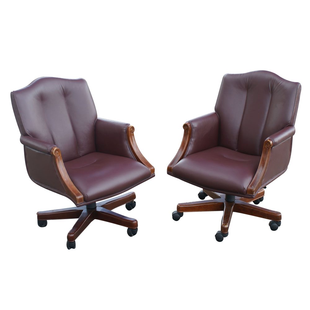1 councill executive arm chair on casters 2 available ebay for 2 furniture casters