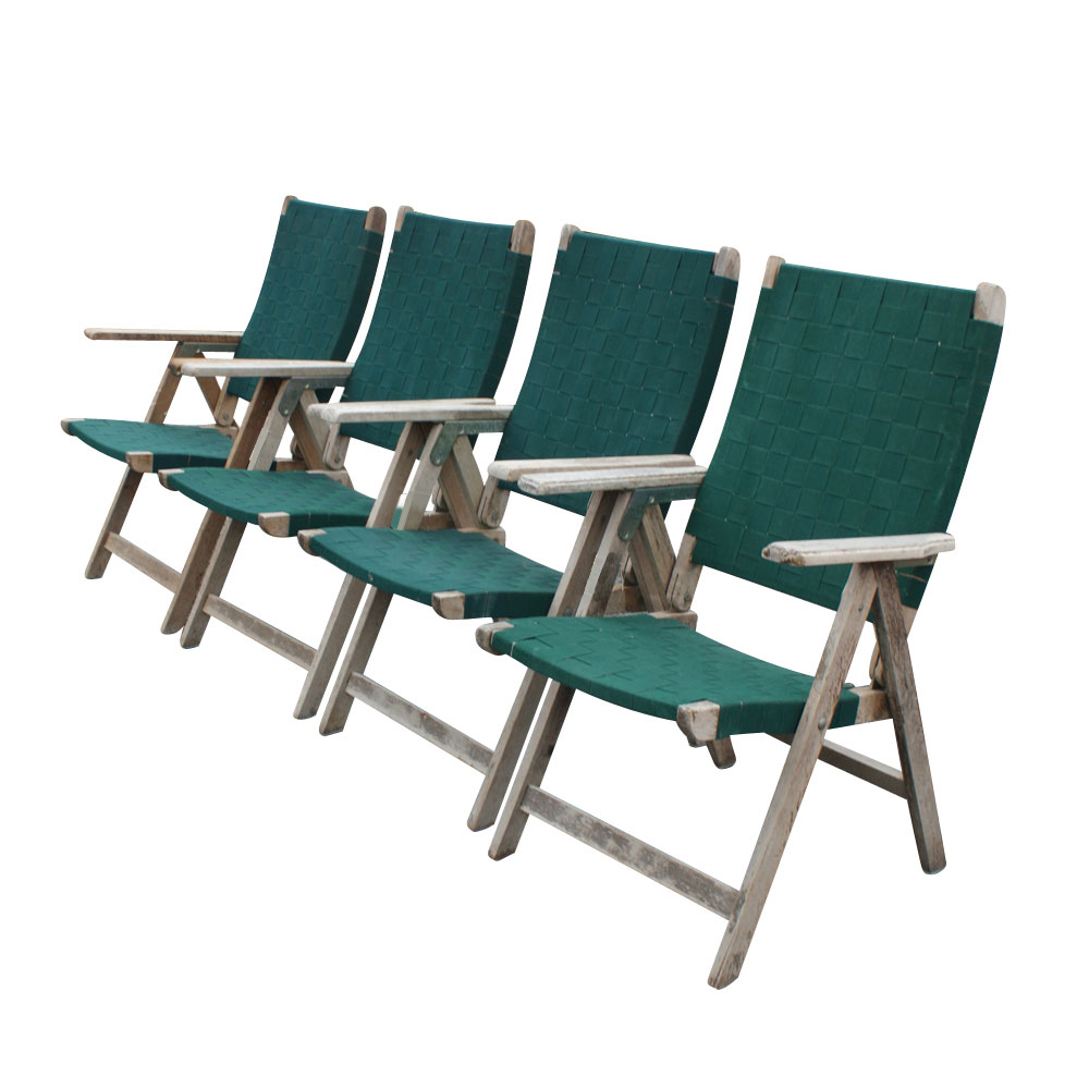 Details about 4 vintage outdoor folding chairs