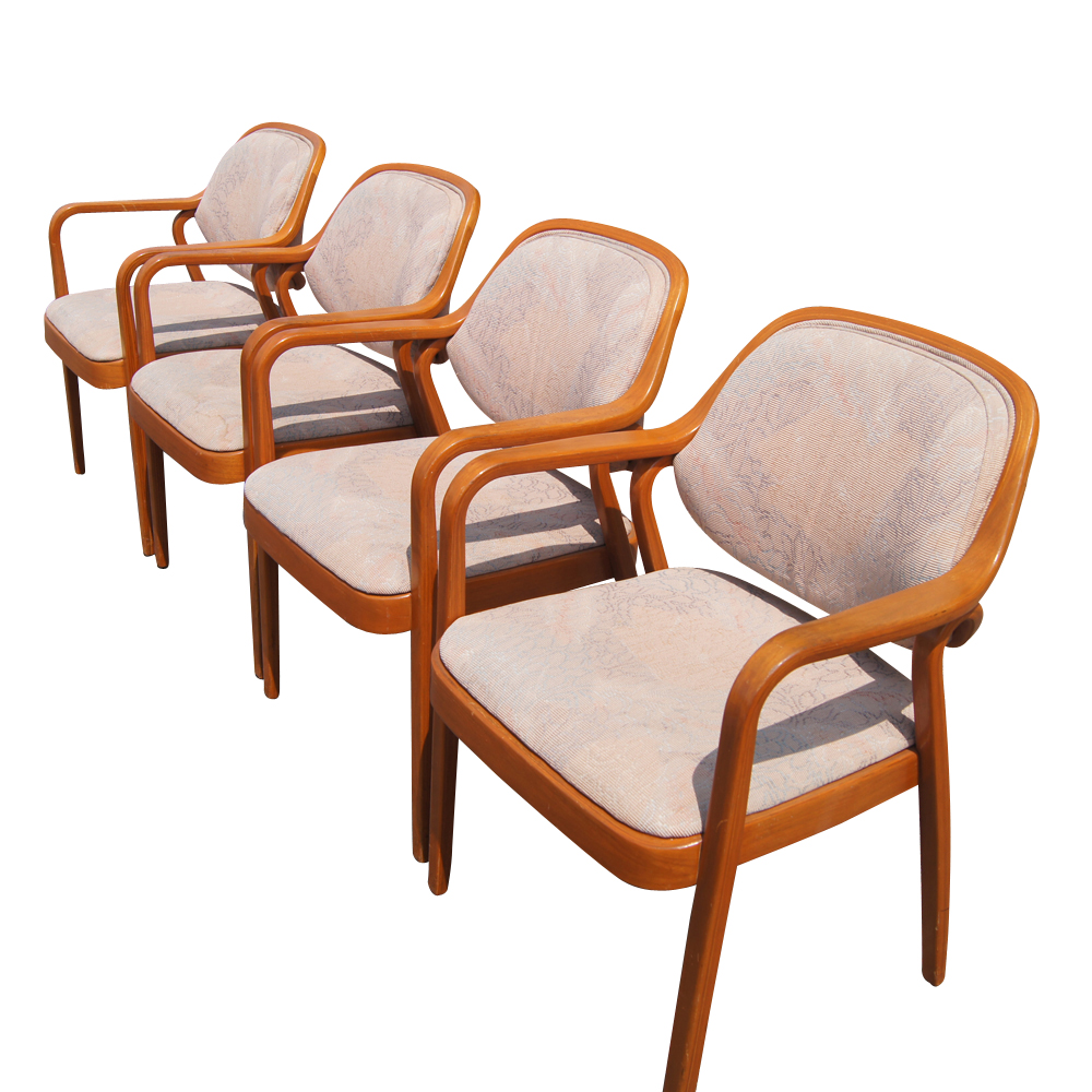 Knoll don petitt wood dining side chairs ebay