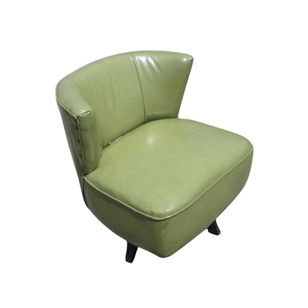 Mid century modern green swivel slipper chairs ebay for Modern room chairs