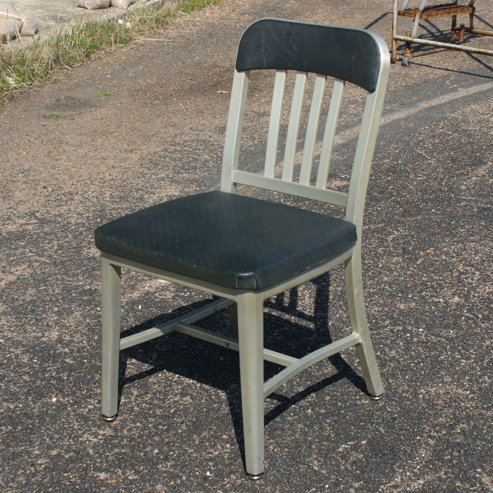 1 vintage emeco aluminum dining side chair ebay for Alu chair replica