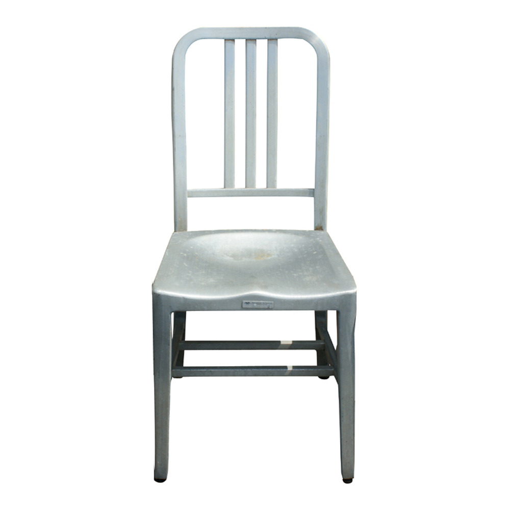 details about 1 general fireproofing vintage aluminum side chair