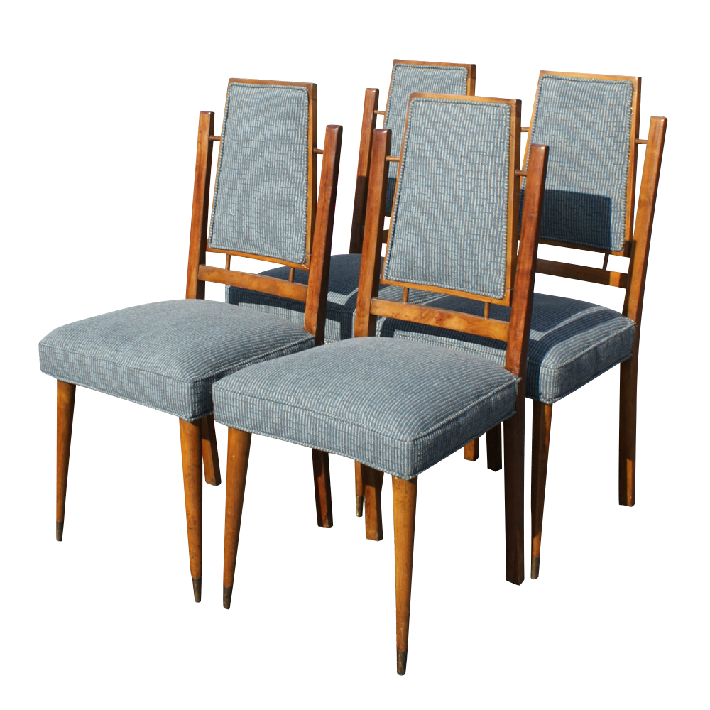 Details about (4) Mid Century Modern Italian Dining Chairs