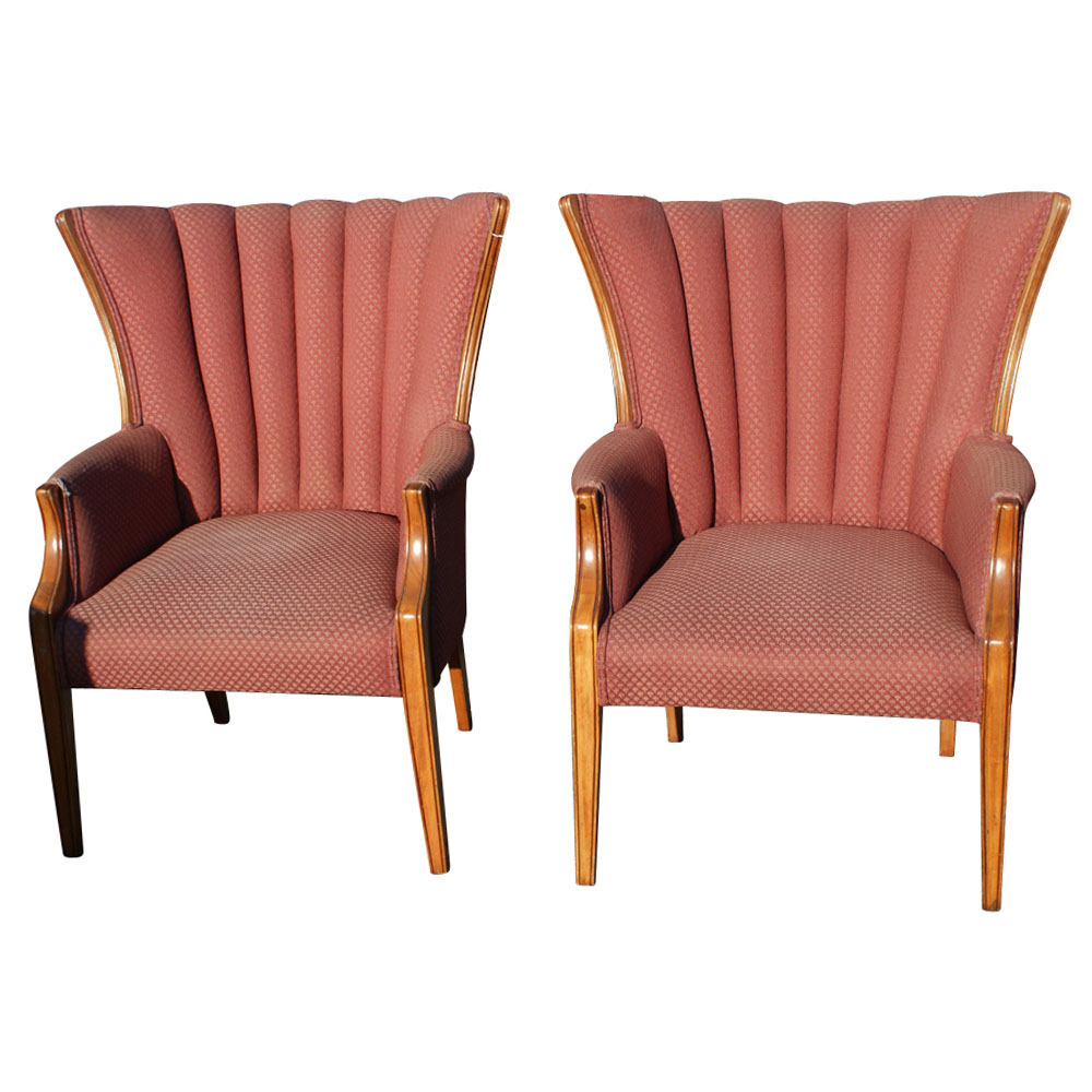 Pair Wingback Chairs Ebay
