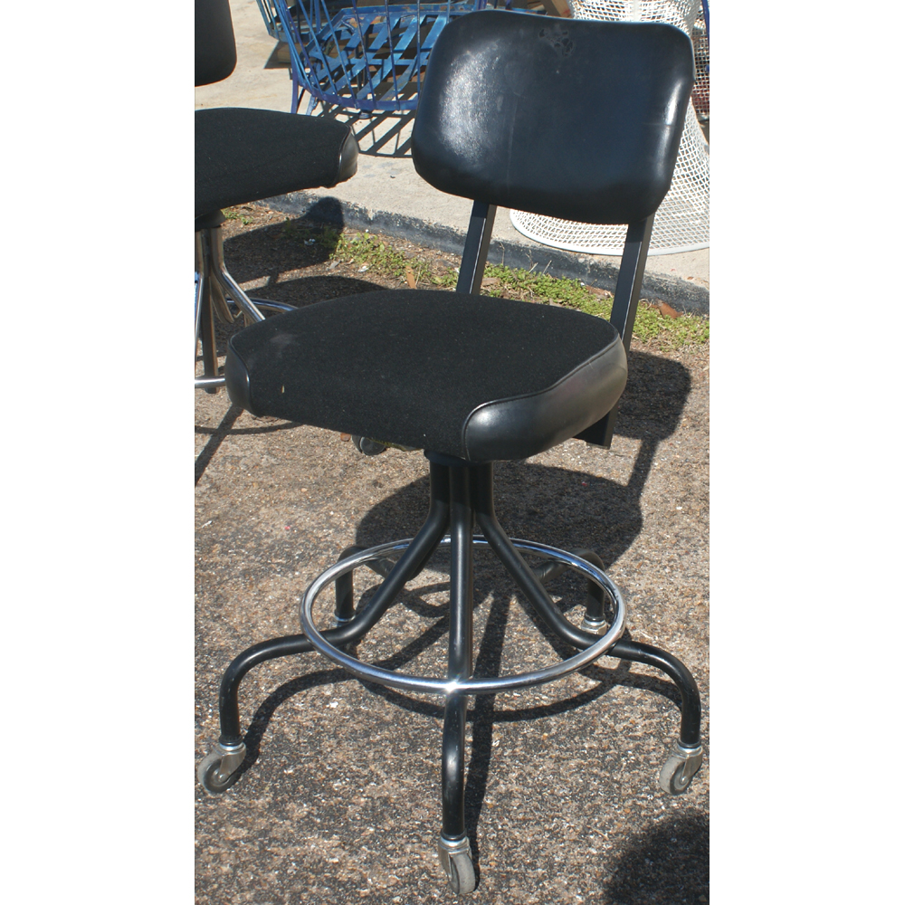 Set Of 2 Adjustable Hydraulic Rolling Swivel Stool Tattoo