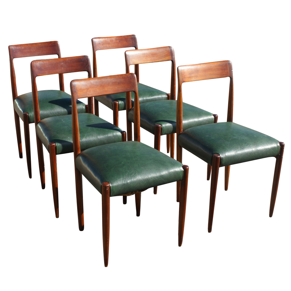 6 Vintage Danish Niels Moller Dining Chairs EBay