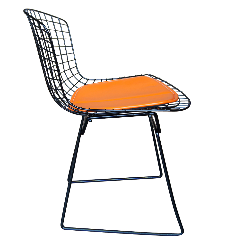 Vintage harry bertoia for knoll black side chair ebay for Bertoia stoel