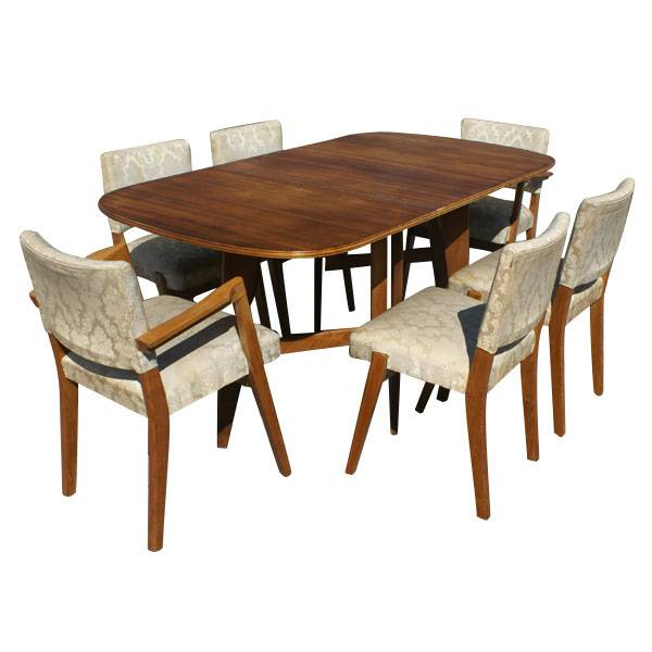 scandinavian dining set 6 chairs drop leaf table ebay