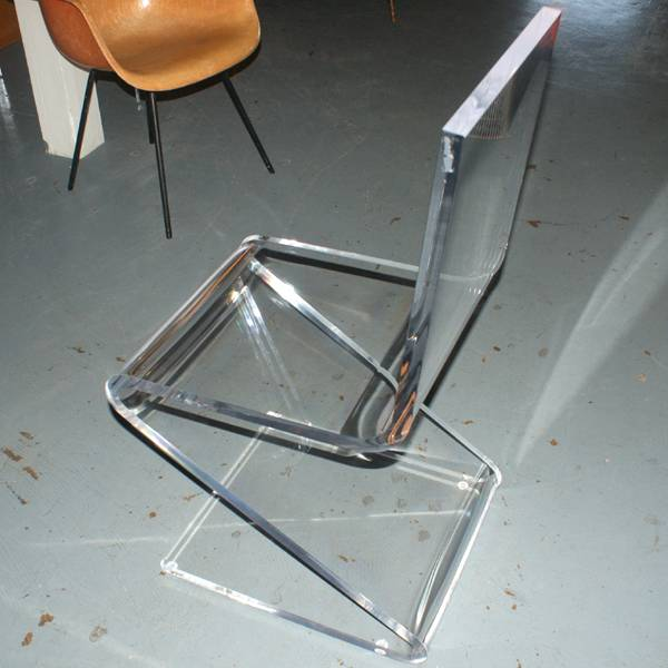details about 1 haziza h studio glide chair gc1 clear acrylic chair