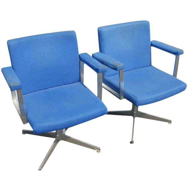 1 gf office furniture aluminum arm chair blue ebay