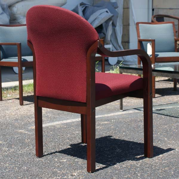 4 Vintage Kimball Wood Frame Dining Side Armchairs Ebay
