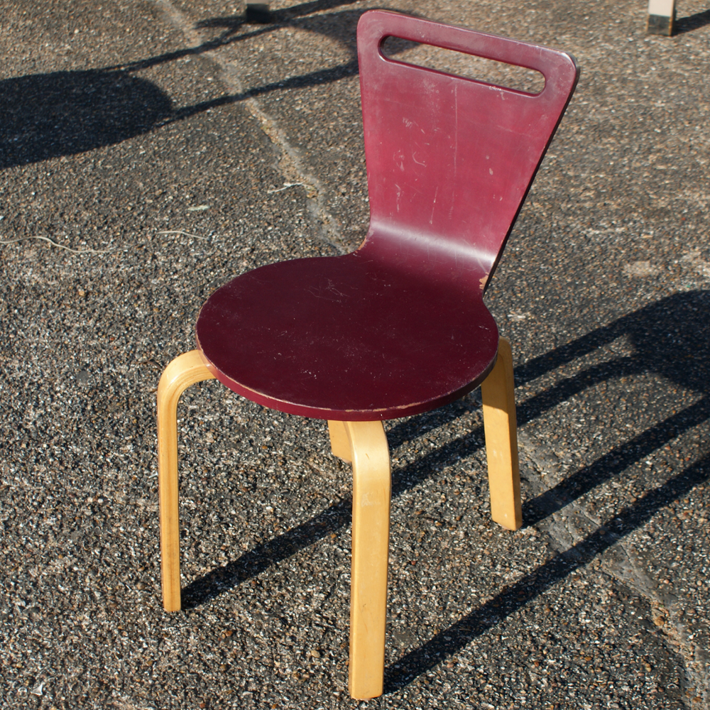 Thonet vintage early thonet children plywood chairs table early 1950