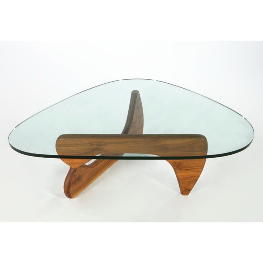 isamu noguchi herman miller walnut coffee table