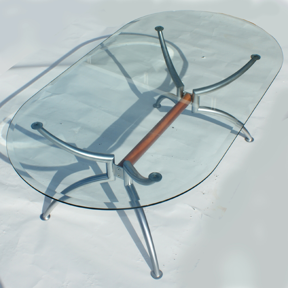 55 scandinavian oval steel glass coffee table Steel and glass coffee table