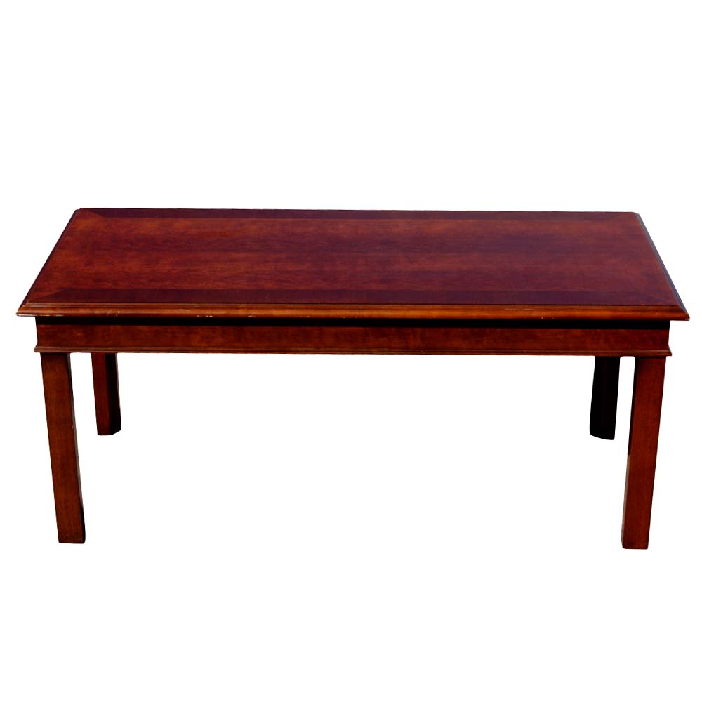 "Mid Century Modern Coffee Table With Planter: 42"" Mid Century Modern Hickory Wood Coffee Table"