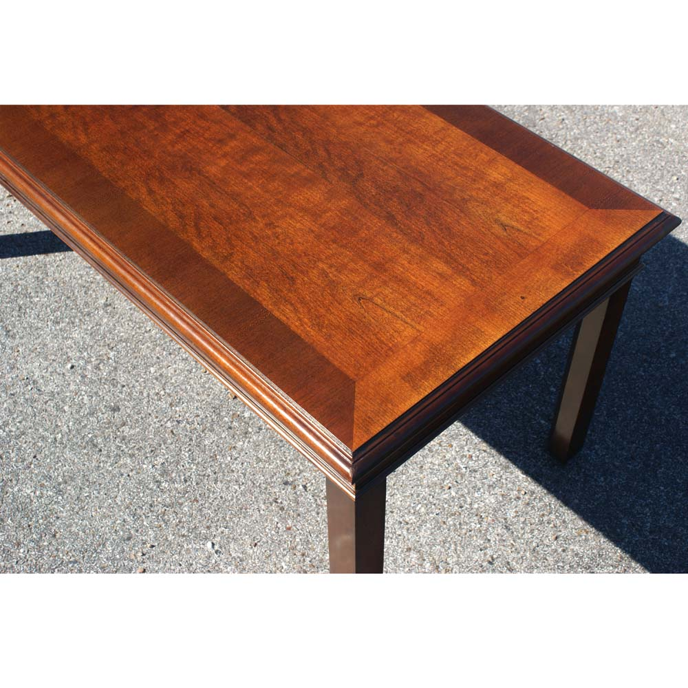 "Modern Wood Coffee Table: 42"" Mid Century Modern Hickory Wood Coffee Table"