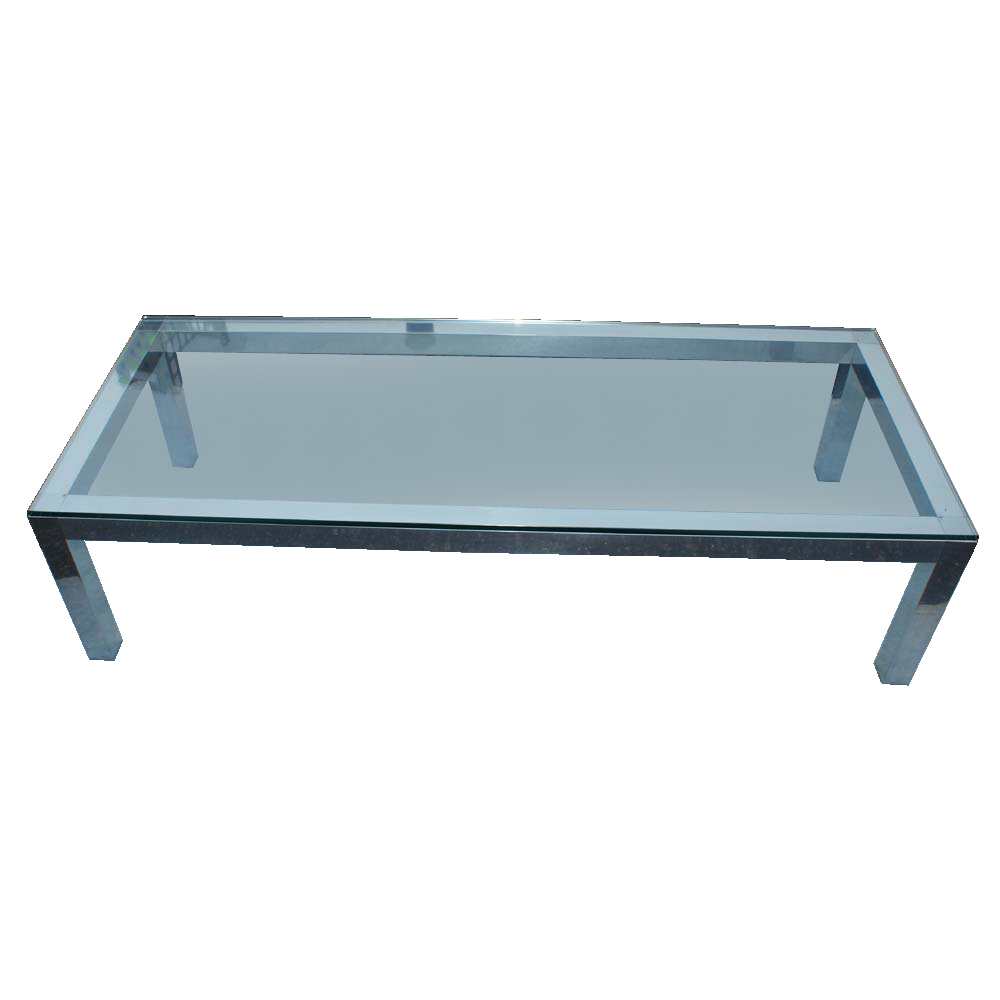 S Curved Gold Chrome Smoked Glass Coffee Table